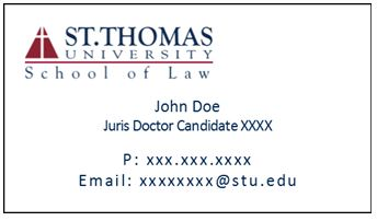 St thomas university law careers student business card order form fill out the information below and submit payment colourmoves